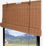 Bamboo Roll up Shade Window Blind - 36 W X 72 H (#67-286)