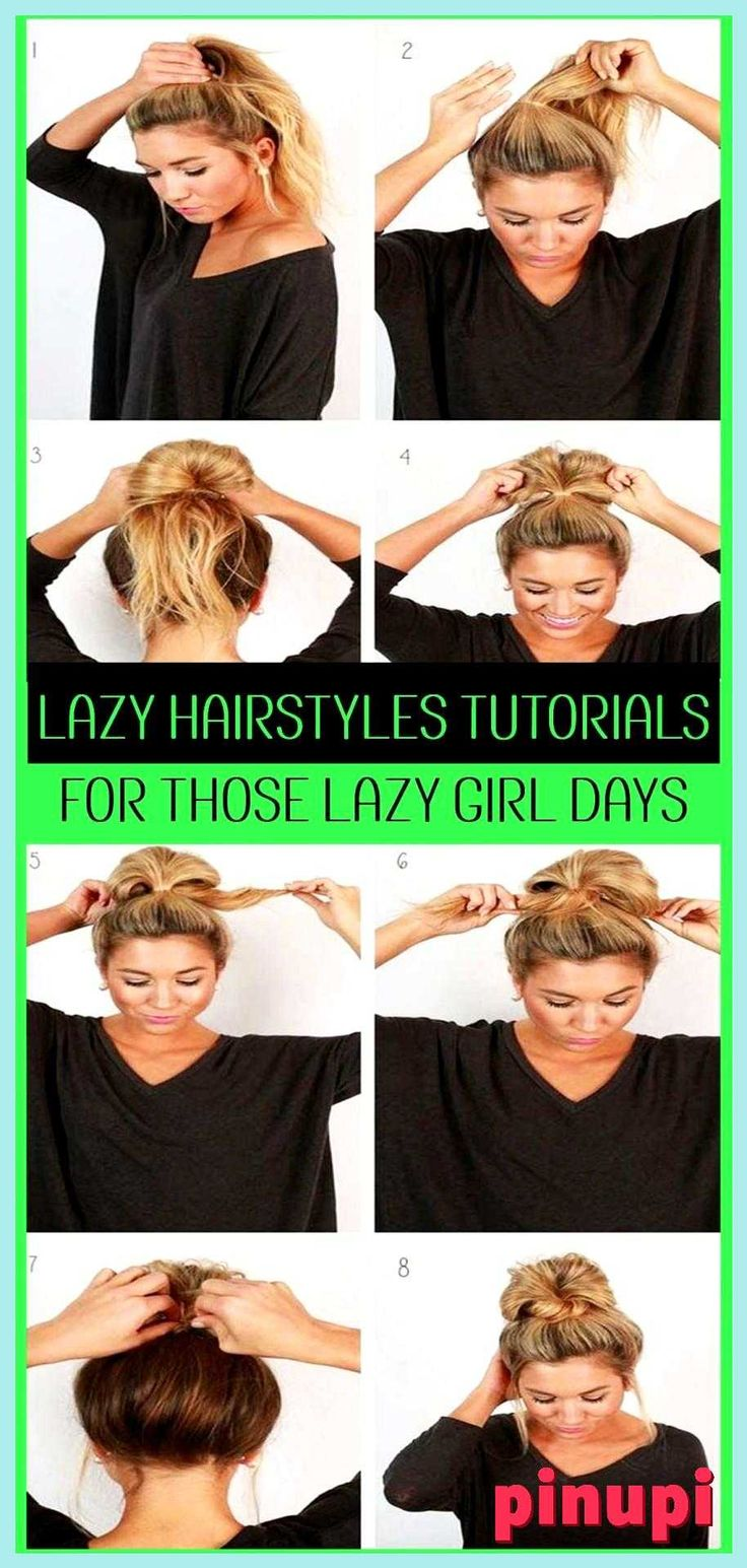 10 EASY Lazy Girl Hairstyle Ideas and Hacks Step By Step Video Tutorials Lazy Hairstyles Quick messy lazy hairstyles for school or for work - easy mes...