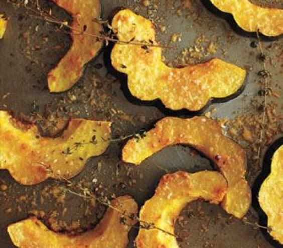 Parmesan-Roasted Acorn Squash: