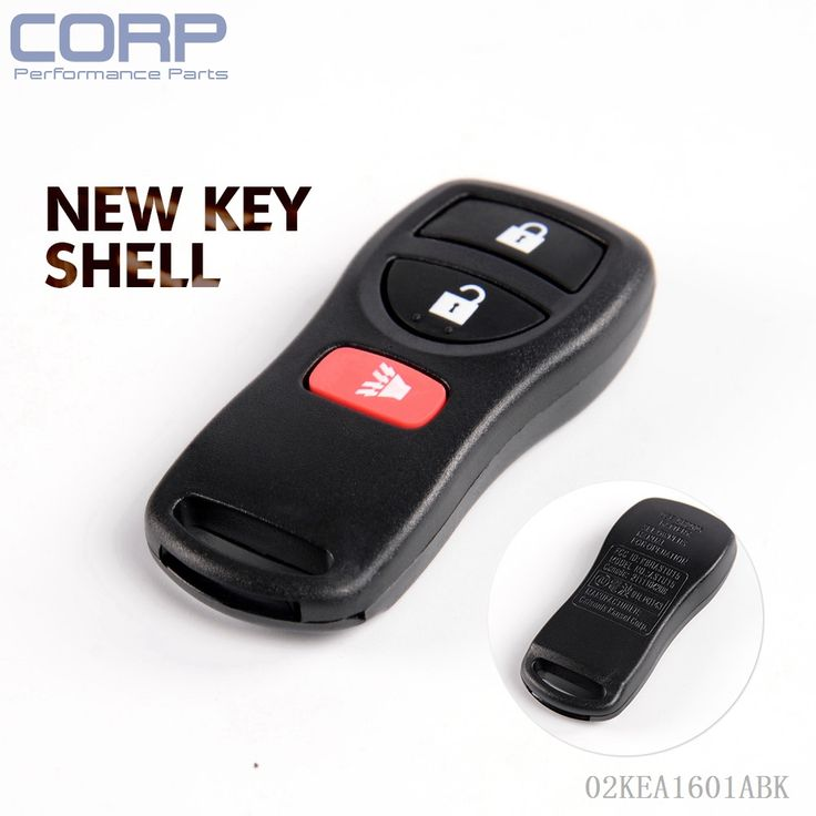 Case only replacement entry remote key fob for nissan
