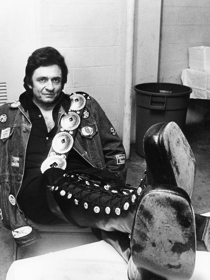 The Jamboree That Never Was — Johnny Cash recovers in the dressing room after...