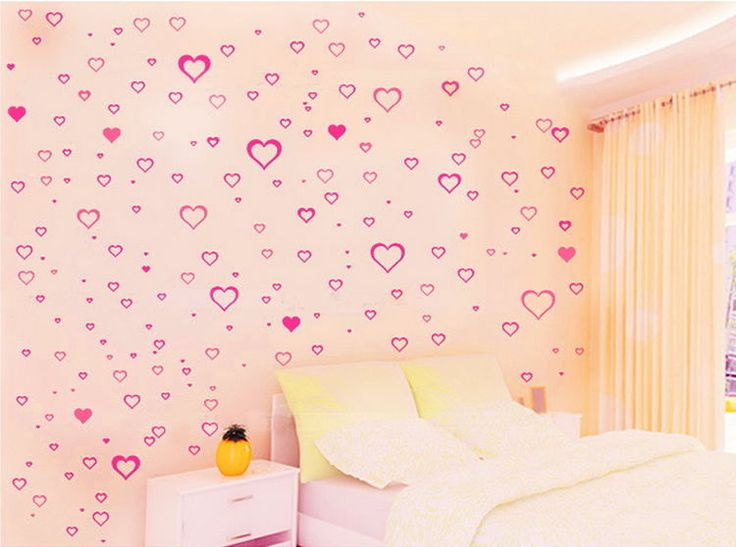 191pcs Heart Flower Wall Decals Removable Sticker Kids Art Nursery Baby Decor in Home & Garden, Home Décor, Wall Stickers | eBay!