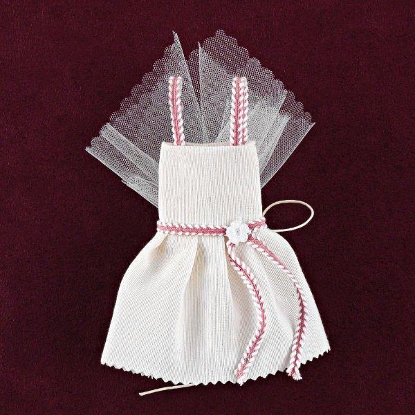 Φόρεμα από Λινό Ύφασμα Εκρού για Μπομπονιέρα Βάπτισης