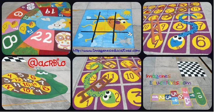Nuevos diseños de juegos tradicionales para decorar nuestro patio + Cuadernos + Didáctica.