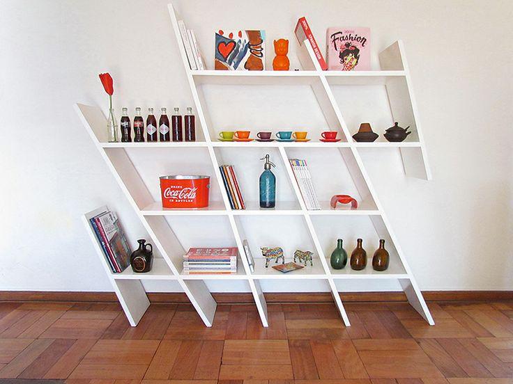 MUEBLES: REPISA GAUDÍ es un diseño lúdico y a la vez equilibrado, que rompe con lo ortogonal de un espacio para darle un poco de movimiento. Encarga el tuyo al +569 98856242 o a javieramora@gmail.... Visítame en www.javieramora.com #diseño #arte #decoracion #muebles #repisas #librero #equilibrio