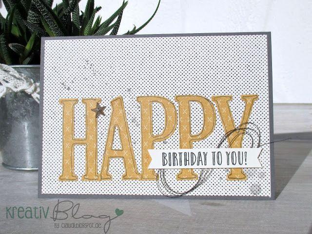 Kreativ Blog by Claudi: Happy Celebrations - Männerkarten