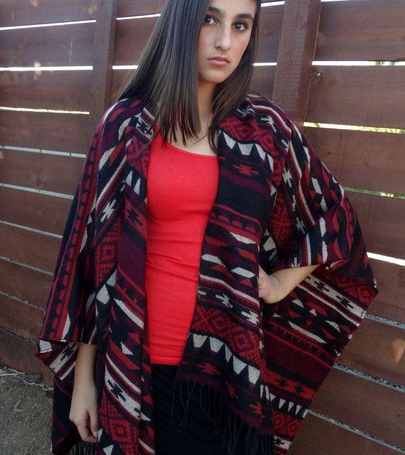 Aztec Boho Ladies Wrap Fall Boho Wrap Aztec by StevieSaintJohn
