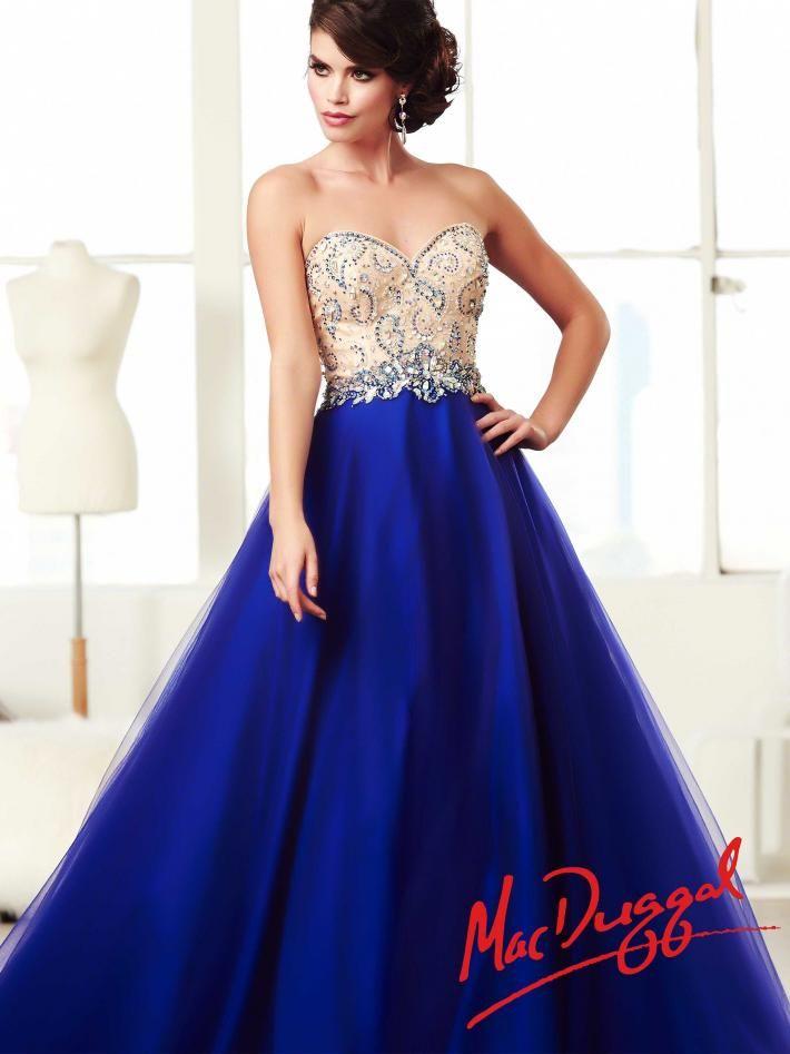 Royal Blue Ball Gown | Mac Duggal 81951H | Pageant ...  Royal Blue Ball...