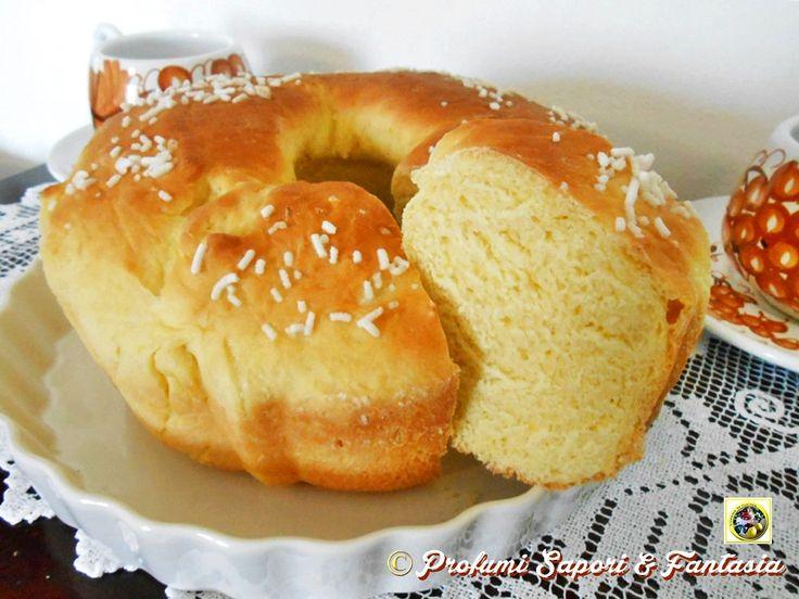Pan+brioche+dolce+con+ricotta+senza+uova+e+burro