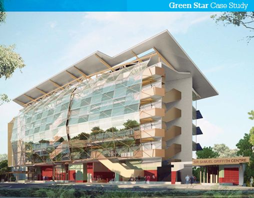 Sir Samuel Griffith Centre - Australia's first teaching and research facility powered by photovoltaics and hydrogen technology #greenbuilding #greenstar