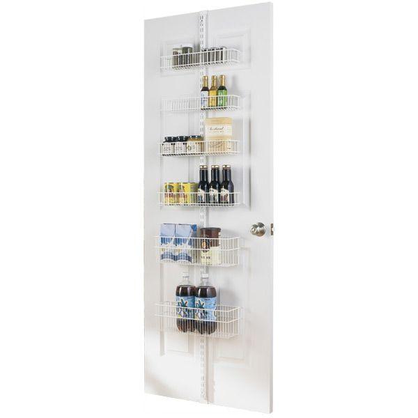 White elfa Door & Wall Rack Solution