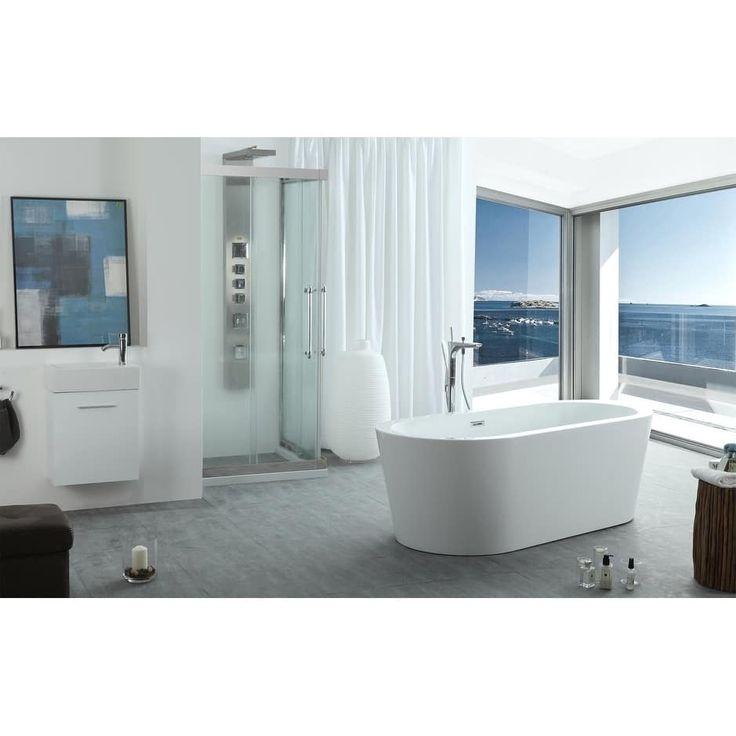 "Virtu USA Serenity 63"" Freestanding Soaking Bathtub Only"