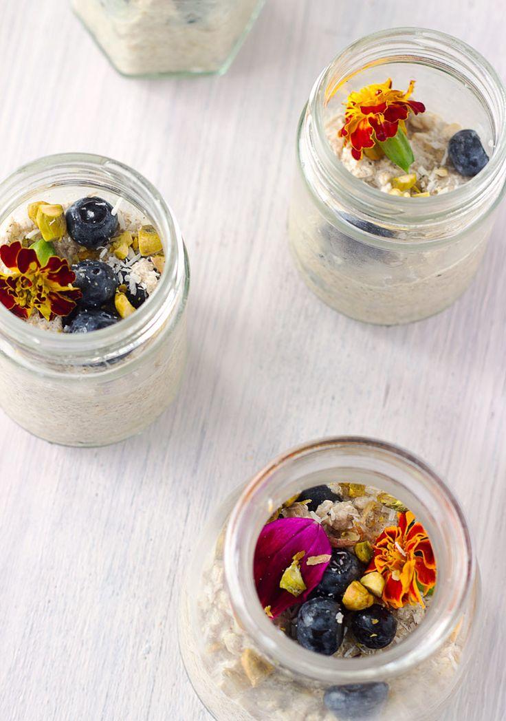 Lemon and Blueberry Bircher Muesli