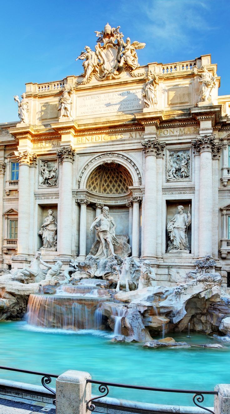 Make a wish at Rome's Trevi Fountain