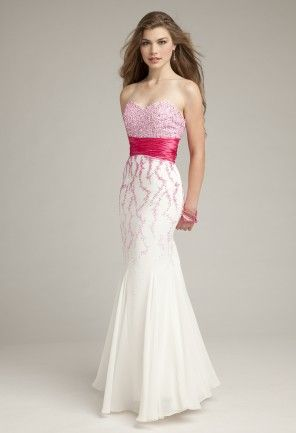 Prom Dresses 2013 - Ombre Strapless Beaded Godet Prom Dress from Camille La Vie and Group USA
