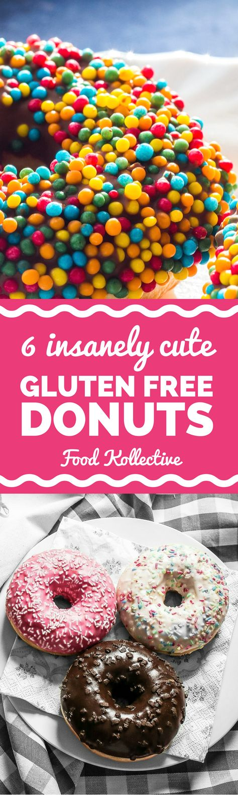 I was looking for gluten free donuts and these look adorable! There are recipes for gluten free chocolate donuts, vegan donuts, Paleo donuts, and more. These would be fun for a sweet breakfast or birthday party. Yes, please! Collected on FoodKollective.com