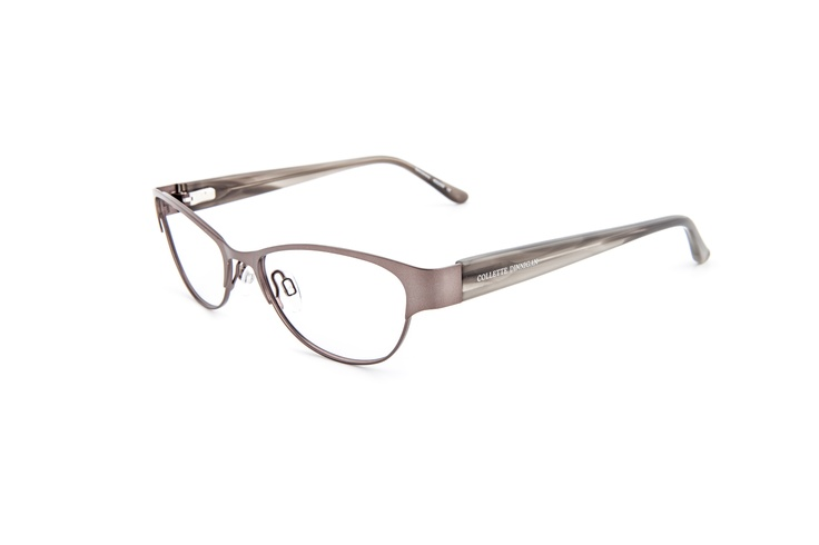 Romance - 25634013. Two pairs from only $439, including standard single vision PENTAX lenses.    Soft and subtle metal frame in a warm grey color with translucent acetate arms in the same tone. The Collette Dinnigan brandmark is stamped in delicate silver. Its petite, rounded shape is perfect for smaller, oval or angular faces. Sophisticated, classic and contemporary.