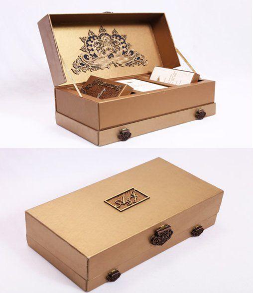 beautiful invitation box/package