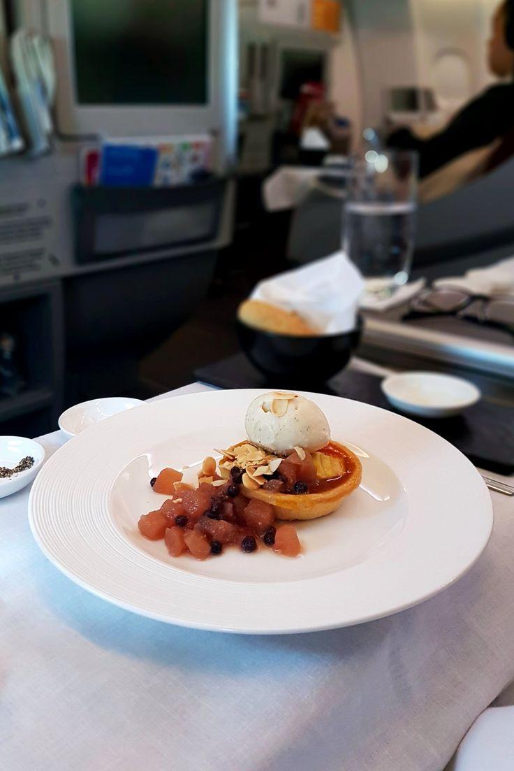"""Creme Brulee"", In Flight Garuda Indonesia, Melbourne - Jakarta"