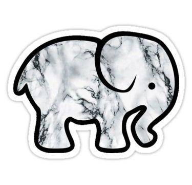 Elephant with marble design • Also buy this artwork on stickers, phone cases, home decor, and more.