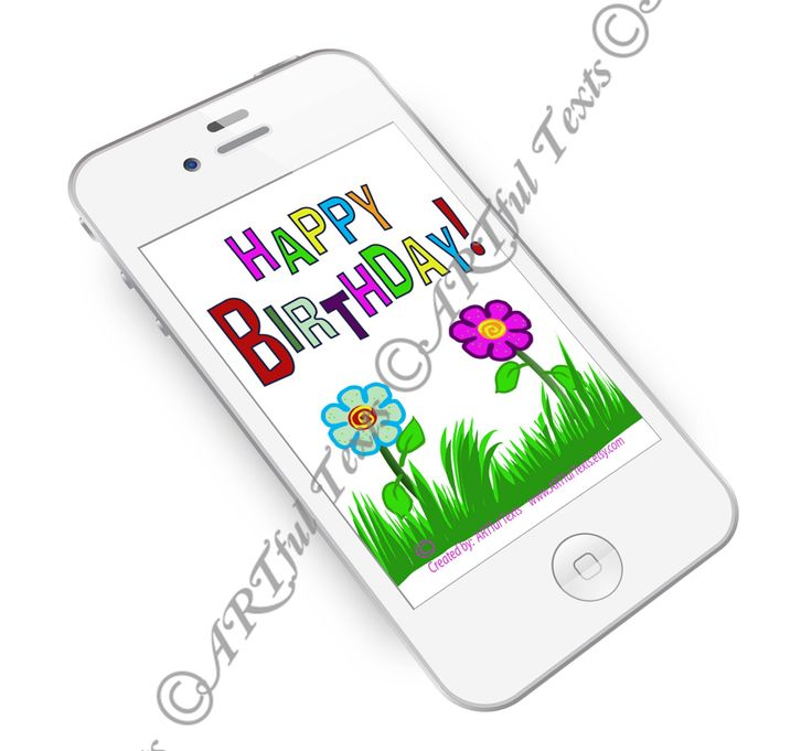 HAPPY BIRTHDAY Text Message, Send  Picture text message, Picture text, Text Picture, phone text message, Mobile phone picture text by ARTfulTexts on Etsy