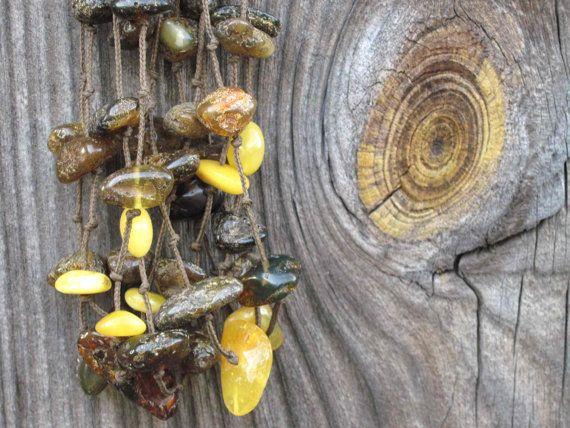 Baltic Amber Multi Strand Necklace  Dark Brown von DreamsFactory: Etsy Treasuri