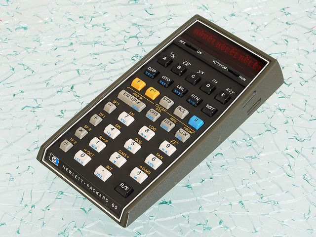 Hewlett-Packard HP-65 Programmable Pocket Calculator (1974). This was my first computer, bought in 1980.