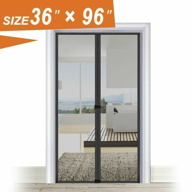 Ebay Sponsored The Fit Life Magnetic Screen Door 36 X 96 Fits Door Size 38x97 Black Mesh Magnetic Screen Door Screen Door Fit Life