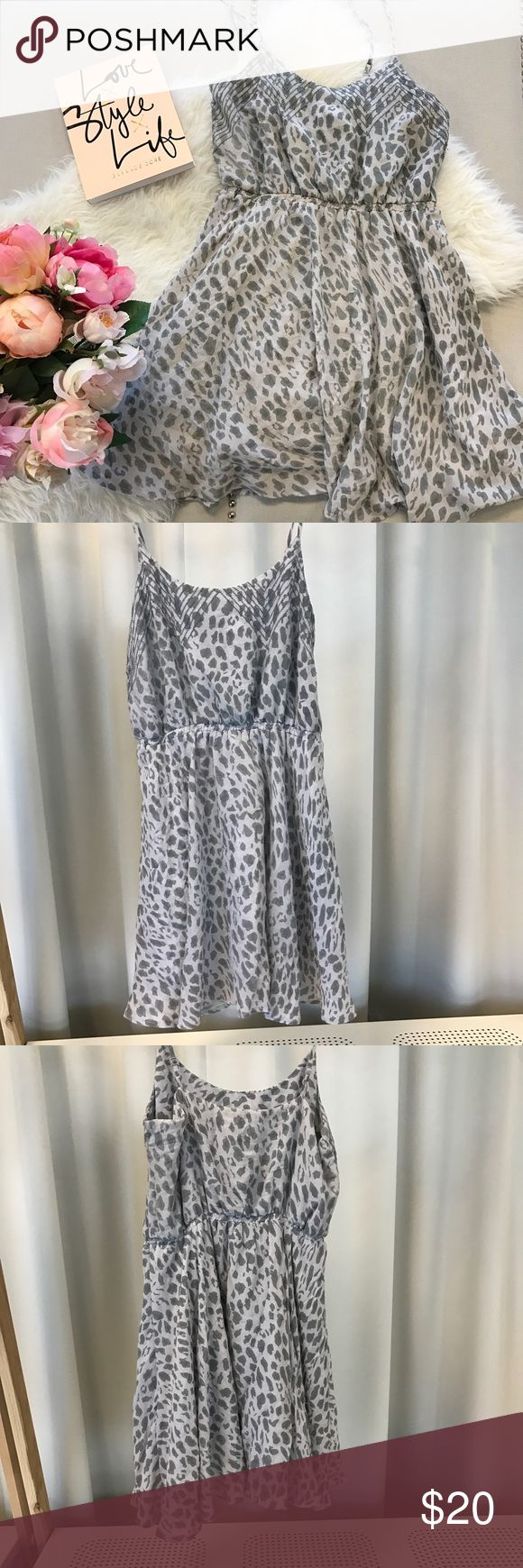 Grey Cheetah Print Dress Urban Outfitters cute cheetah print dress. In good condition only worn twice. Urban Outfitters Dresses