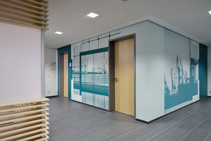 Corporate Office Wall Graphics Large Scale Wall Graphics For Oil Company Offi