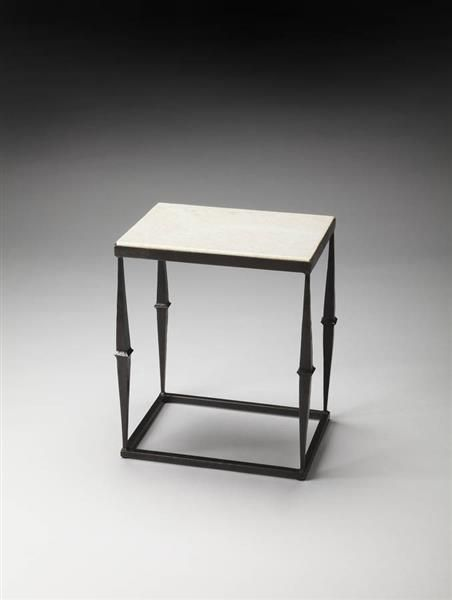 Metalworks Transitional Iron Marble Side Table BSF-2841025