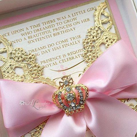 Inspiração de convite de luxo By @alexandrialindo