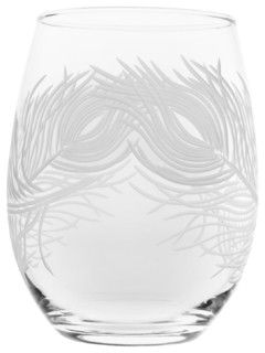 Peacock Red Wine Tumbler, 21 Ounces, Set of 4 - contemporary - cups and glassware - by Rolf Glass