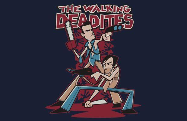 The Walking Deadites T-Shirt Get yours here: http://tshirtonomy.com/go/walking-deadites