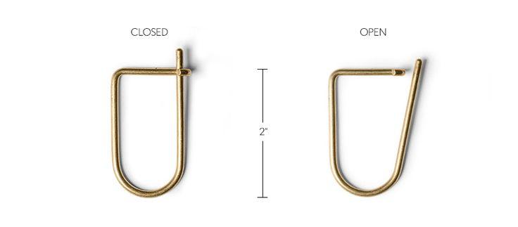 EDC Brass Key Ring - made in Brooklyn, NYC     Kaufmann Mercantile