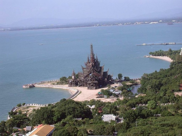 The Sanctuary of Truth in Pataya, Thailand.
