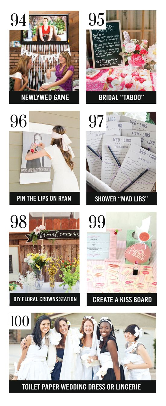 Bridal Shower Games and Activities that Rock