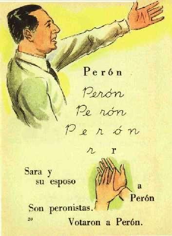 Libro en época de Perón