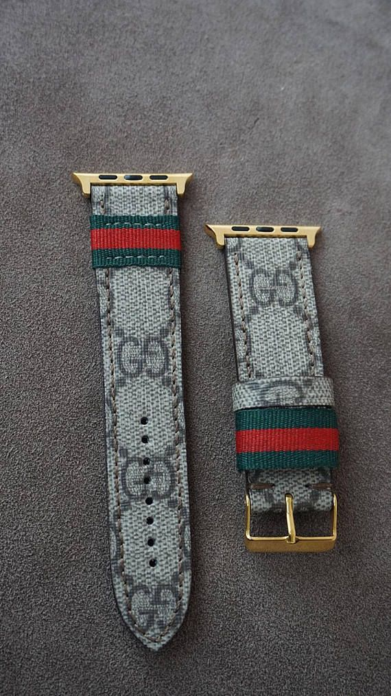 Apple watch 1,2,3,4 band, Apple watch band, Gucci strap