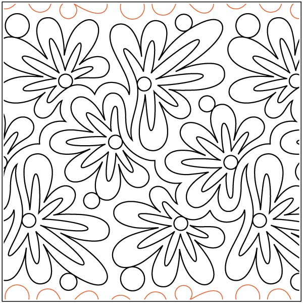 digitized designs for machine quilting