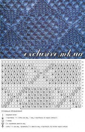 Ромбы спицами | Салон эксклюзивного вязания