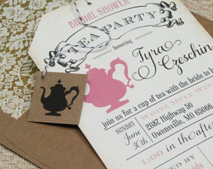 13 best tea party invitation inspiration templates images for Unique tea party ideas