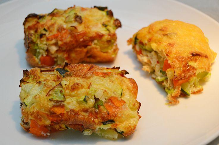 De her grøntsags stykker er en storebrortil de populære grøntsags muffins jeg har lavet opskrift på til jer her. De her er spicey og lidt grovere. Mine store børn elsker dem, og de udgør en god overraskelse hvad enten det er til aftensmaden eller i madpakken.Til 6 stk af denne str. ska