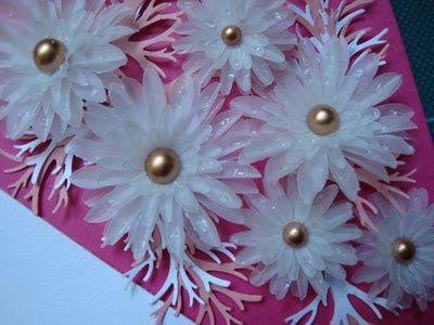 Sonho de Artesanato : Flores em papel vegetal com efeito molhado