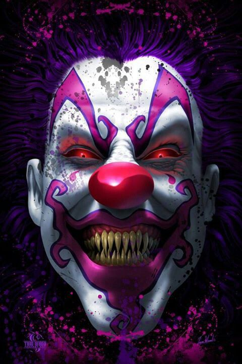 Dark art: Scary Clown | RIP's Funhouse | Pinterest