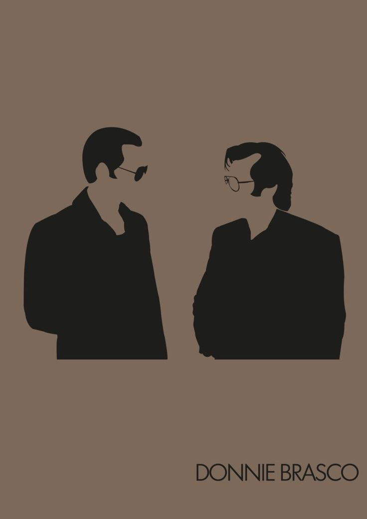 Donnie Brasco - Minimalist poster featuring Donnie and Lefty by Lestath87 at Deviant Art #GangsterMovie #GangsterFlick