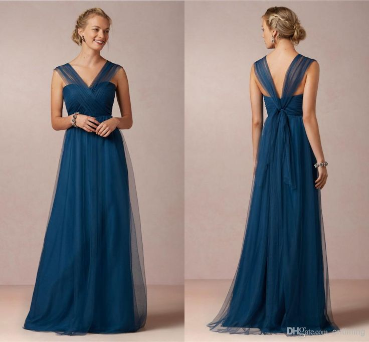 Wholesale cheap bridesmaid dress 2015 online, 2014 spring summer - Find best wM best selling charming dark blue sheer tulle prom evening party gowns v-neck cross criss Front long bridesmaids dresses 2014 new arrival at discount prices from Chinese bridesmaid dress supplier on DHgate.com. $107.00