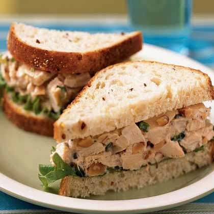 Rosemary Chicken Salad Sandwiches Recipe. Fresh rosemary and smoked almonds set this chicken salad apart from all the others, and rotisserie chicken breasts make it quick and easy.