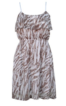 Sheer Lace Zebra Print Dress...$18! www.dots.com
