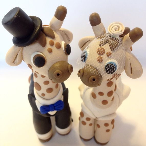 Hey, I found this really awesome Etsy listing at https://www.etsy.com/listing/107625525/giraffe-wedding-cake-topper-choose-your